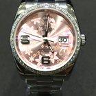 Rolex Datejust 36mm Diamonds DIAMOND Bezel Pink Rose Flower Dial