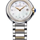 Maurice Lacroix Fiaba. Diamond Bezel, Silver Dial, Gold Plated...