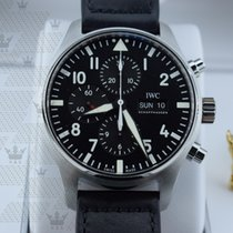 IWC IW377709 Pilot Black Automatic Chronograph Men's Watch