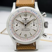 Wittnauer 3256 Vintage Manual Chronograph SS (23993)