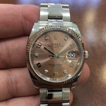 Rolex Oyster Perpetual Date 34mm Pink Diamonds 115234