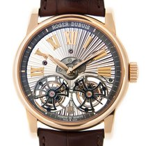 Roger Dubuis Hommage 18k Rose Gold Transparent Skull Manual...