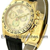 Rolex Unworn 116518 Yellow Gold DAYTONA on Strap - 116518 -...