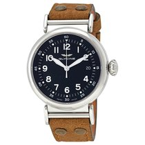 Glycine F 104 Black Dial Brown Leather Strap Automatic...