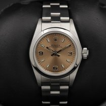 Rolex Oyster Perpetual - Ladies - 67180 - Salmon Arabic Dial -...