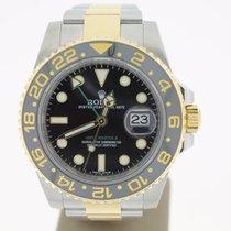 Rolex GMT-Master II Steel/Gold BlackDial (B&P2016) 40mm MINT
