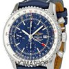 Breitling Navitimer World Blue Dial Chronograph Mens Wa...