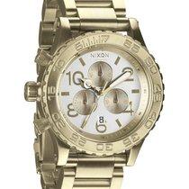 Nixon 42-20 Chrono A037-1219 Champagne Gold Silver Unisexuhr