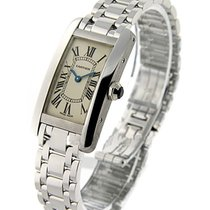 Cartier W26019L1 Tank Americaine Small Size - 18KT White Gold...