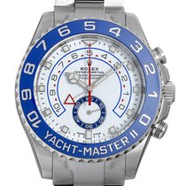 Rolex Yachtmaster II Stainless Steel White Dial 44mm 116680 NEW
