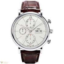 IWC Portofino Chronograph Stainless Steel Silver Dial Men`s Watch