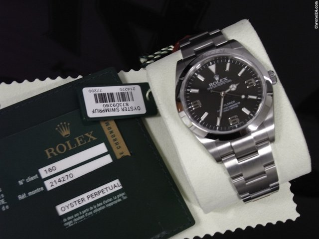 Rolex Watch Explorer 39mm New Box And Certificate 214270