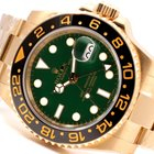 Rolex 18K Gold Ceramic GMT Master ll - Green Dial - Unworn