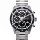Eberhard & Co. Champion V Black Dial Steel Chronograph