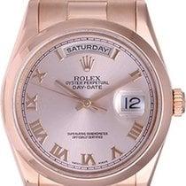 Rolex Men's Rose Gold Rolex President Day-Date Watch Pink...