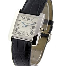 Cartier W5001156 Tank Francaise - Large Size - White Gold on...