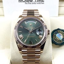 劳力士  (Rolex) Day-Date 18ct Everose Gold 40mm Olive Green Roman...