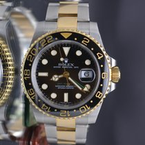Rolex GMT Master II 116713 18k Y Gold & Steel 2 Tone Box...