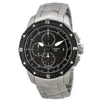 Tissot T-Navigator Chronograph Black Dial Mens Watch T06242711...