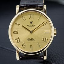 Rolex R5109 Cellini 18k Yellow Gold Champagne Dial Like New...