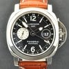 Panerai S/S Black Dial 44MM Luminor GMT B&amp;amp;P PAM00088