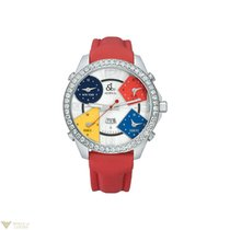 Jacob & Co. Five Time Zone Diamonds Stainless Steel...