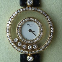 Chopard Happy Diamond 1,00ct. Doppelkranzbesatz as NEW white Dial