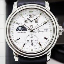 Blancpain 2160-1127-53 Leman Timezone Dual Time SS White Dial...