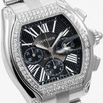 Cartier Steel 48mm XL Roadster Chrono - Custom VS Diamond Bezel