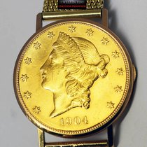 Ulysse Nardin 1904 $20 Liberty Gold Coin Watch 18k Yellow Gold...