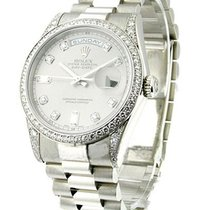 Rolex Used Presidential Platinum President with Diamond Lugs...