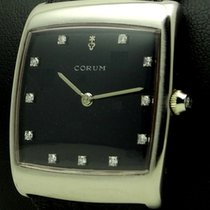 Corum Buckingham, 18 kt white gold, diamonds dial