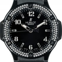 Hublot Big Bang Black Magic Stahl Keramik Diamond Quarz...