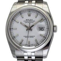 Rolex - Datejust : 116200 white dial on Jubilee bracelet