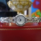 Bulova Stainless Steel Mother Of Pearl Dial Round Dress Watch