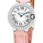 "Cartier Diamond ""Ballon Bleu"" Strapwatch."