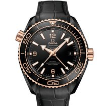 Omega Planet Ocean Deep Black Ceramic Sedna Gold 215.63.46.22.01