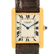 Cartier Tank Classic 18k Yellow Gold Ultra Thin Mechanical Watch