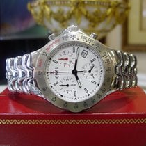 Ebel Sportwave Stainless Steel Chronograph White Dial Watch