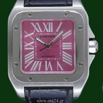 Cartier Santos 100 Automatic Pink Dial Limited Summer Animatio...