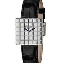 Chopard 127407 Ice Cube Womens Quartz in White Gold - On Black...