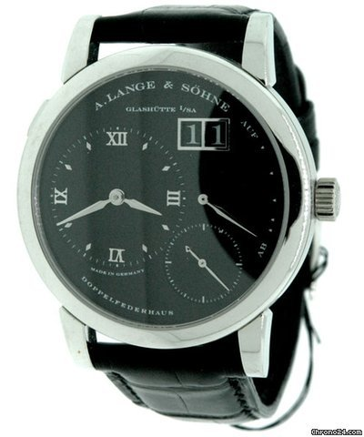 A. Lange &amp;amp; Shne LANGE ONE &amp;#34;DARTH&amp;#34; PLATINUM WITH RARE BLACK DIAL