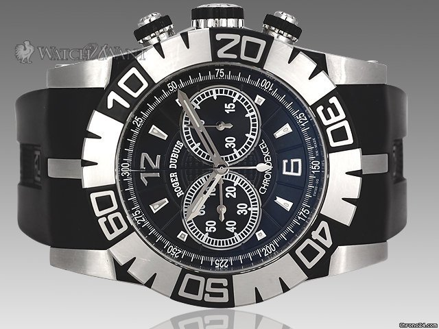 Roger Dubuis Easy Diver Chronoexcel Automatic Chronograph - 46mm Stainless Steel - Special Edition 888 Pieces - Rubber &amp;amp; Carbon Fiber Accents - Boxes/Papers &amp;amp; As-New