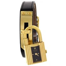 Hermès Ladies Gold Plated Hermes Kelly Ladies Lock Watch