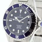 Grovana Swiss Made Automatic Diver Watch Blue Bezel NEW 2Y...