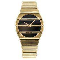 Piaget Polo 18k Solid Yellow Gold Quartz Watch Black Dial 791...