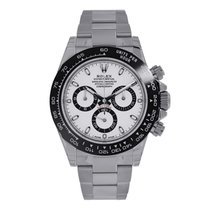 Rolex DAYTONA Stainless Steel Black Ceramic Bezel White Dial