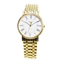 Longines Presence Pvd Gold White Automatic L4.921.2.11.8