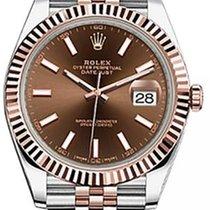 Rolex Datejust 41 126331 Chocolate Index Fluted Rose Gold...