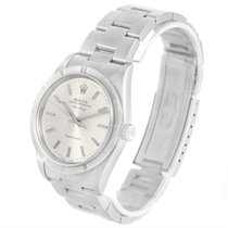 Rolex Air King Stainless Steel Silver Baton Dial Mens Watch 14010